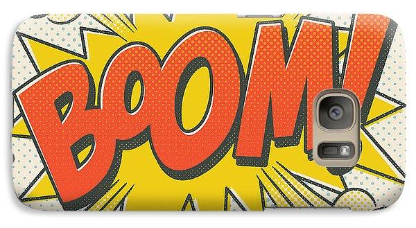 Spider Galaxy S7 Case - Comic Boom On Off White by Mitch Frey