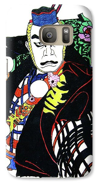 Galaxy Case featuring the painting Kabuki Nanbawan by Roberto Prusso
