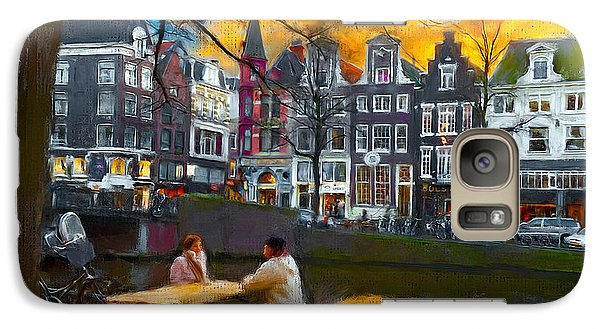 Galaxy Case featuring the photograph Kaizersgracht 451. Amsterdam by Juan Carlos Ferro Duque
