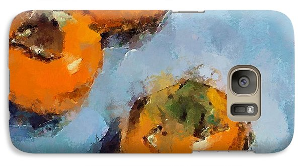 Galaxy Case featuring the painting Kaki by Dragica  Micki Fortuna