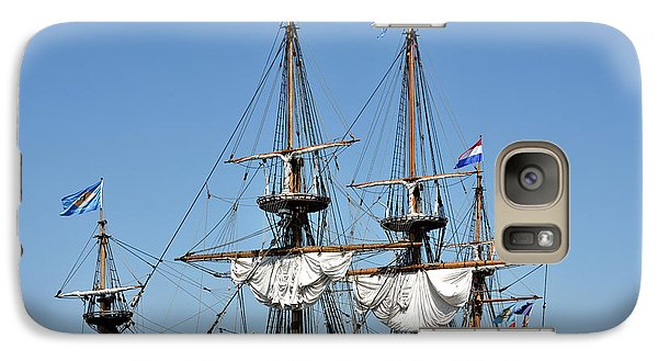 Galaxy Case featuring the photograph Kalmar Nyckel - Docked In Lewes Delaware by Brendan Reals