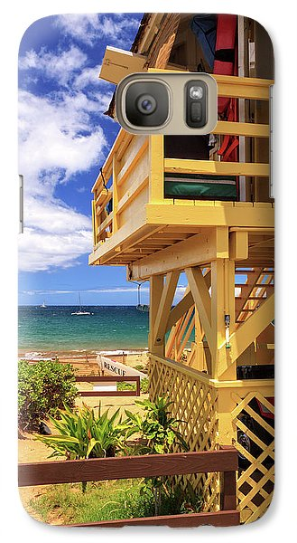 Galaxy Case featuring the photograph Kamaole Beach Lifeguard Tower by James Eddy