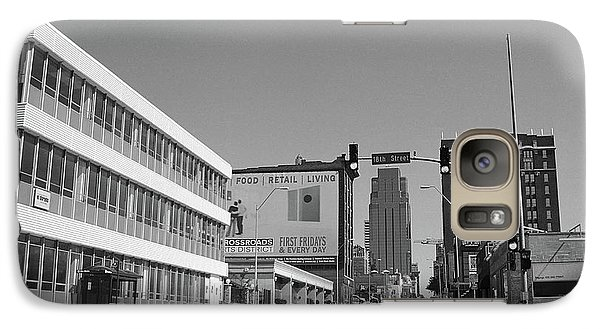 Galaxy Case featuring the photograph Kansas City - 18th Street Bw by Frank Romeo
