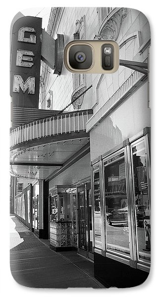 Galaxy Case featuring the photograph Kansas City - Gem Theater 2 Bw  by Frank Romeo