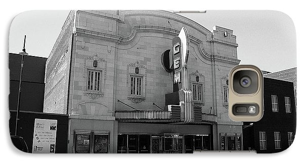 Galaxy Case featuring the photograph Kansas City - Gem Theater Bw by Frank Romeo