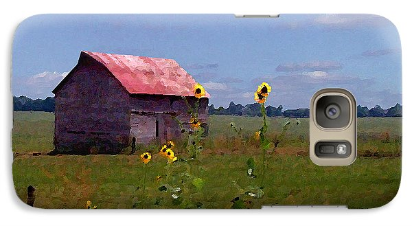Galaxy Case featuring the photograph Kansas Landscape by Steve Karol