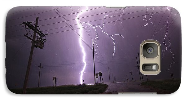 Galaxy Case featuring the photograph Kansas Lightning by Ryan Crouse