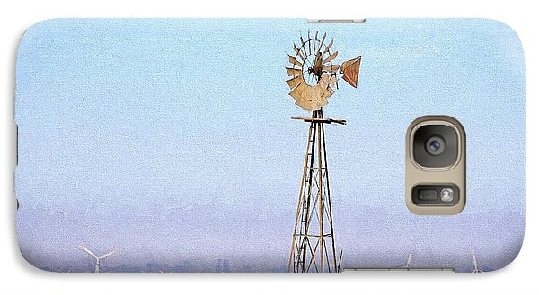 Galaxy S7 Case featuring the digital art Kansas Windmills by JC Findley