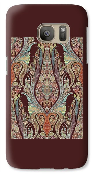 Galaxy Case featuring the painting Kashmir Elephants - Vintage Style Patterned Tribal Boho Chic Art by Audrey Jeanne Roberts