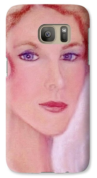 Galaxy Case featuring the drawing Kate by Denise Fulmer