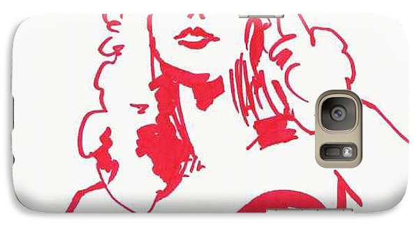Galaxy Case featuring the drawing Kate Moss by Seth Weaver