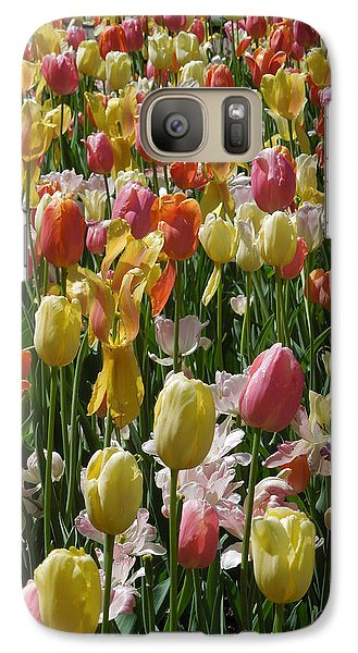 Galaxy Case featuring the photograph Kathy's Tulips Iv by Peg Toliver