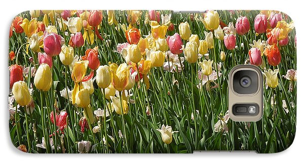 Galaxy Case featuring the photograph Kathy's Tulips by Peg Toliver