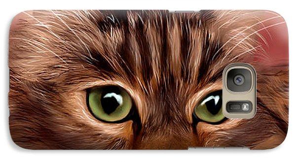 Katie- Custom Cat Portrait Galaxy S7 Case