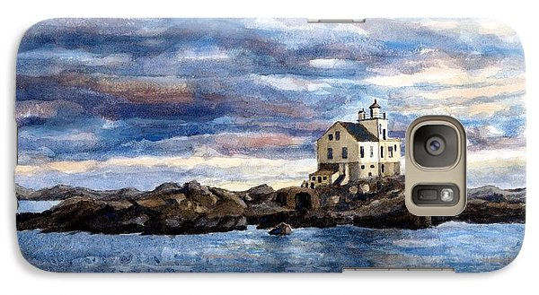 Galaxy Case featuring the painting Katland Lighthouse by Janet King