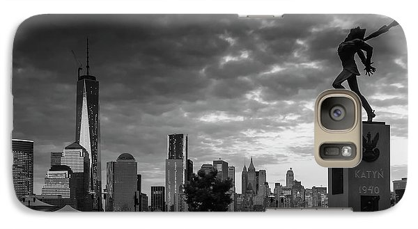 Galaxy Case featuring the photograph Katyn New World Trade Center In New York by Ranjay Mitra