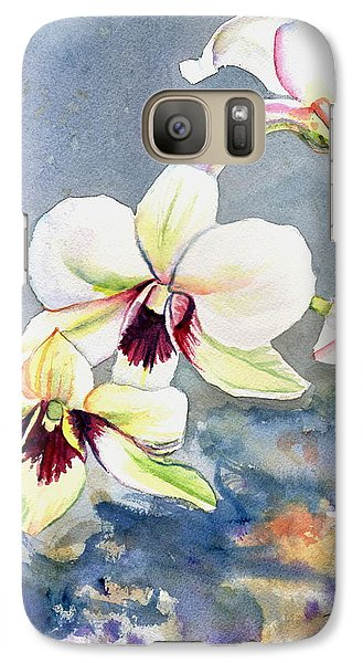 Galaxy Case featuring the painting Kauai Orchid Festival by Marionette Taboniar
