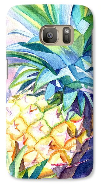 Galaxy Case featuring the painting Kauai Pineapple 3 by Marionette Taboniar