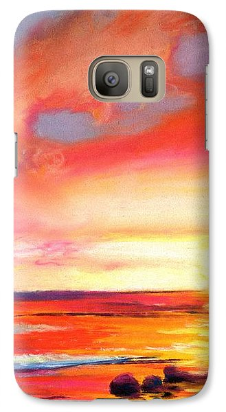 Galaxy Case featuring the painting Kauai West Side Sunset by Marionette Taboniar