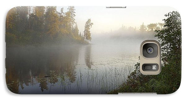 Galaxy Case featuring the photograph Kawishiwi Morning Fog by Larry Ricker