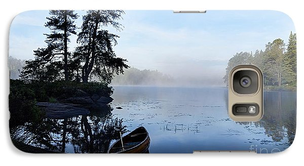 Galaxy Case featuring the photograph Kawishiwi Morning by Larry Ricker