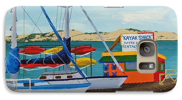 Galaxy Case featuring the painting Kayak Shack Morro Bay California by Katherine Young-Beck