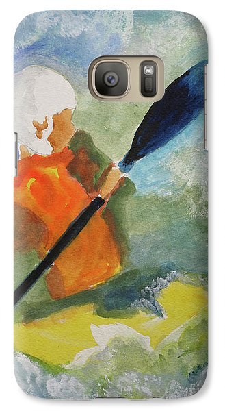 Galaxy Case featuring the painting Kayaking by Sandy McIntire
