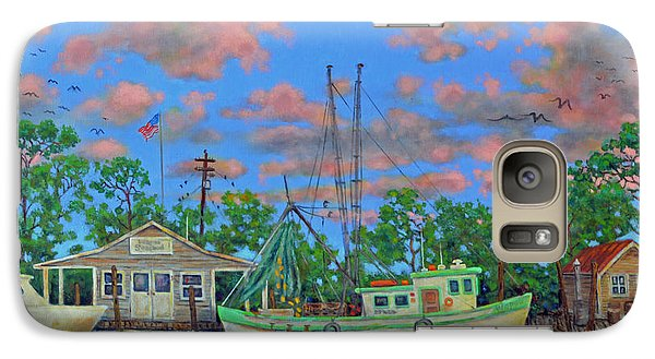 Galaxy Case featuring the painting kayaks on the Creek by Dwain Ray