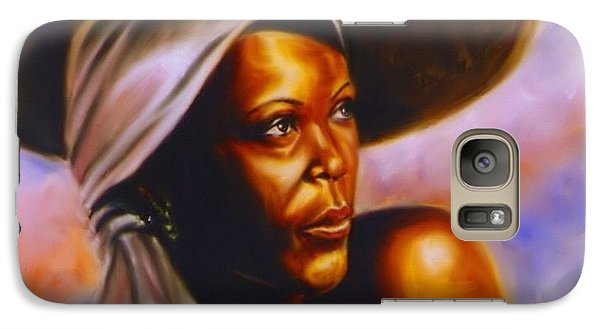Galaxy Case featuring the painting Keep Your Head To The Sky. by Darryl Matthews