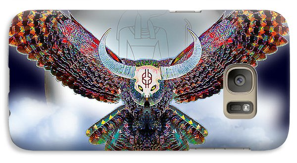 Galaxy Case featuring the digital art Keeper Of The Night by Iowan Stone-Flowers
