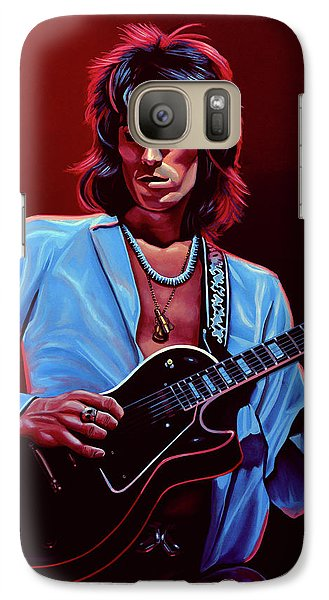 Keith Richards The Riffmaster Galaxy S7 Case by Paul Meijering