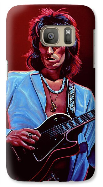 Musicians Galaxy S7 Case - Keith Richards The Riffmaster by Paul Meijering