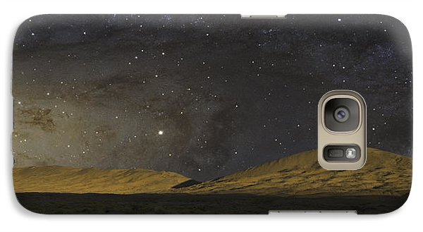 Galaxy Case featuring the photograph Kelso Dunes One by Kevin Blackburn