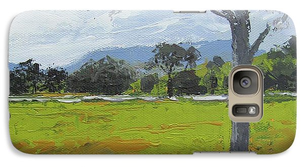 Galaxy Case featuring the painting Kenilworth Landscape Queensland Australia by Chris Hobel