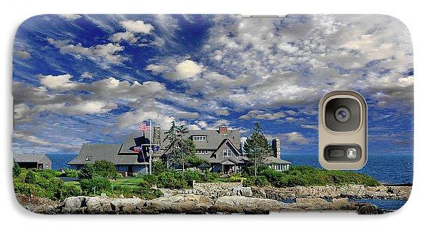 George Bush Galaxy S7 Case - Kennebunkport, Maine - Walker's Point by Russ Harris