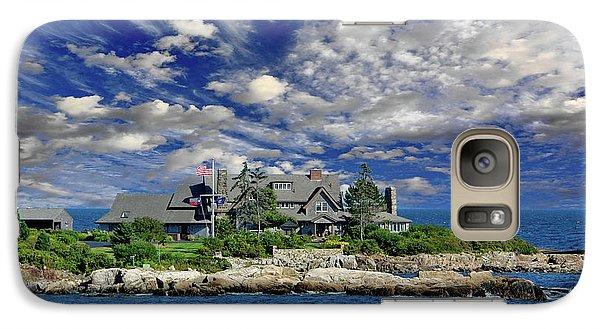 Kennebunkport, Maine - Walker's Point Galaxy Case by Russ Harris