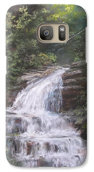 Galaxy Case featuring the pastel Kent Falls by Jack Skinner