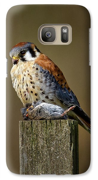 Kestrel With Prey Galaxy S7 Case