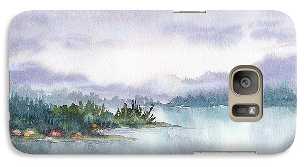 Galaxy Case featuring the painting Ketchikan Alaska Inside Passage Shores by Karen Mattson