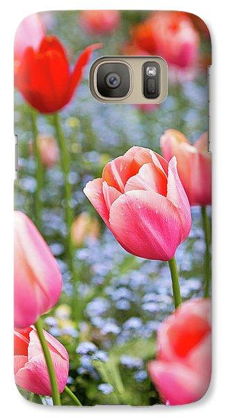 Galaxy Case featuring the photograph Keukenhof Tulips - Amsterdam by Melanie Alexandra Price
