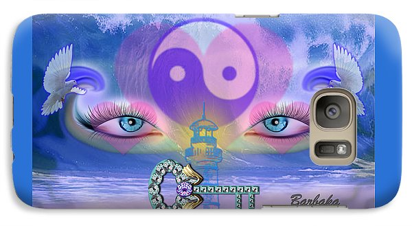 Galaxy Case featuring the digital art Hope Is The Key To Balance Love And Peace by Barbara Tristan