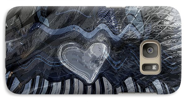 Galaxy Case featuring the digital art Key Waves by Linda Sannuti