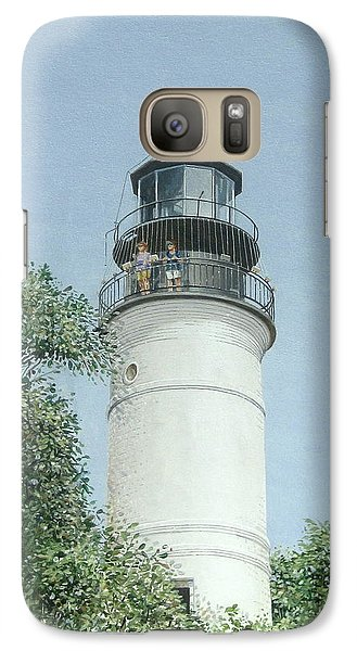 Galaxy Case featuring the painting Key West Lighthouse by Bob George