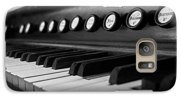 Galaxy Case featuring the photograph Keys And Knobs In Black And White by Greg Mimbs