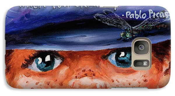 Galaxy Case featuring the painting Kid by Igor Postash
