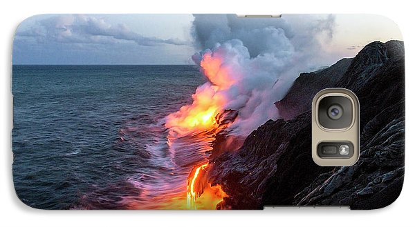 Kilauea Volcano Lava Flow Sea Entry 3- The Big Island Hawaii Galaxy S7 Case