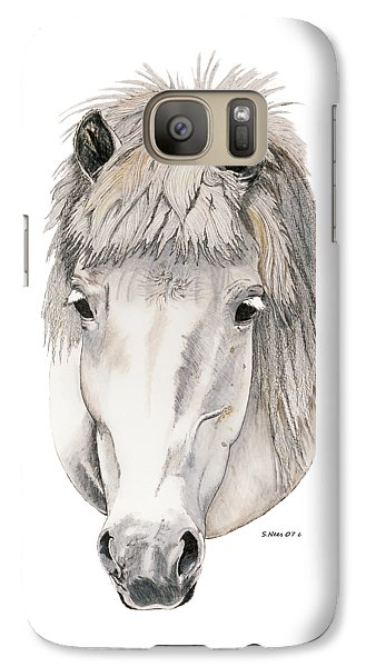 Galaxy Case featuring the painting Kind Eyes by Shari Nees