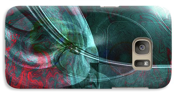 Galaxy Case featuring the digital art King Crimson by Linda Sannuti