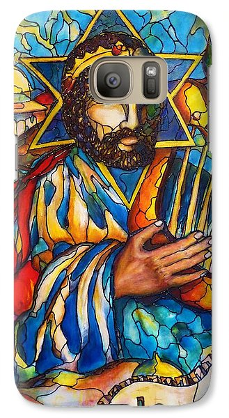 Galaxy Case featuring the painting King David by Rae Chichilnitsky