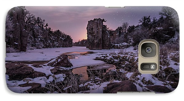 Galaxy Case featuring the photograph King Of Frost by Aaron J Groen